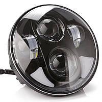 Фара мото LED 5,75 (145мм) дюймів DL-557H(Black )