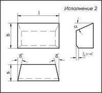 Пластина 01151 Т14К8 (20х12х7х18гр) (для проходных, расточных и револьверных резцов)