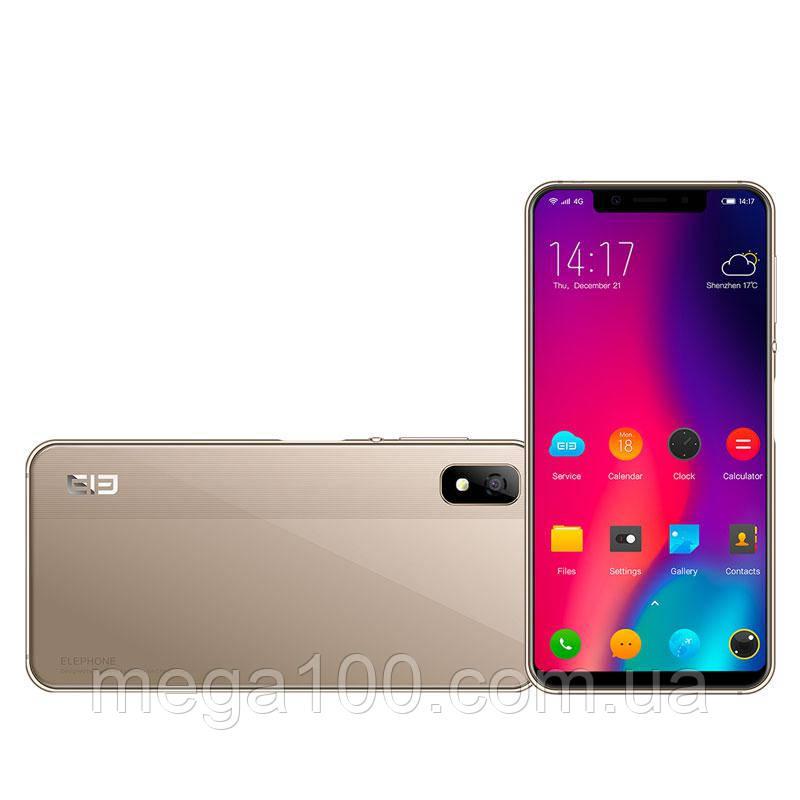 Смартфон  Elephone A4 золотой (экран 5.85 дюймов, Android 8.1,  памяти 3GB/16GB, акб 3000 мАч)
