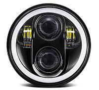 Фара мото LED 5,75 дюймів DL-557E(Black )