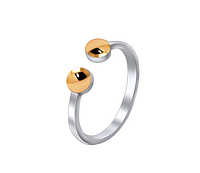 Фаланговое кольцо из серебра с золотом