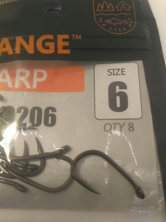 "Карповые крючки,,Orange carp"" #6"