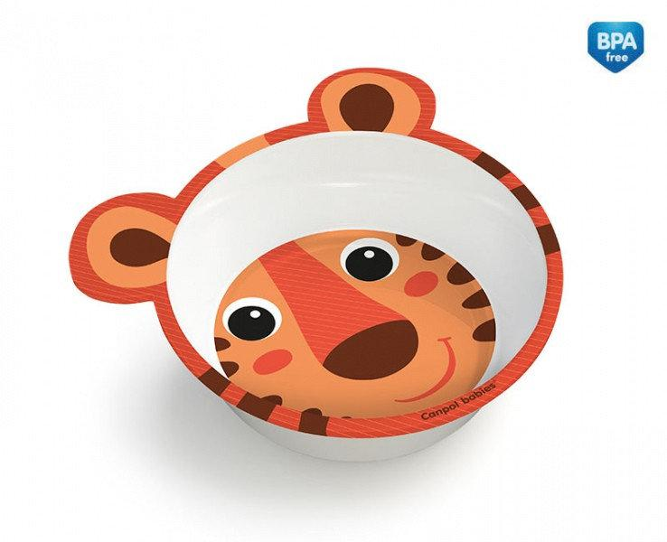Детская глубокая тарелка с ушками Зверята Canpol Babies