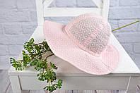 "Панама для девочки на завязках ""Прошва"", розовая 42-54, 3 размера, фото 1"