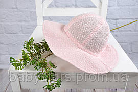"Панама для девочки на завязках ""Прошва"", розовая 42-54, 3 размера"