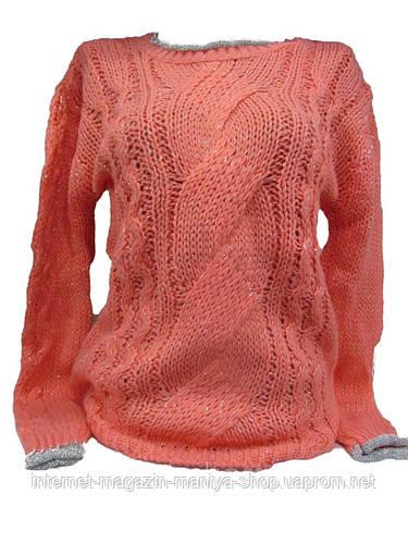 Женский свитер с рисунком