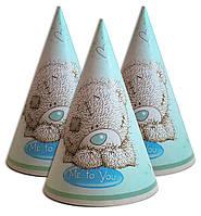 Колпачки на день рождения Мишка Тедди 16 см