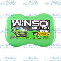 Губка для мытья авто Winso с мелкими порами 240х160х70 мм Зеленая (151200)