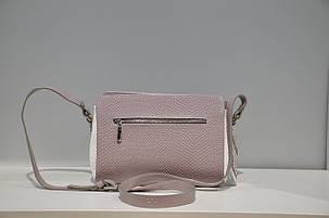 Кожаная женская сумочка через плечо 0709-1040, фото 2