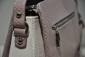 Кожаная женская сумочка через плечо 0709-1040, фото 3