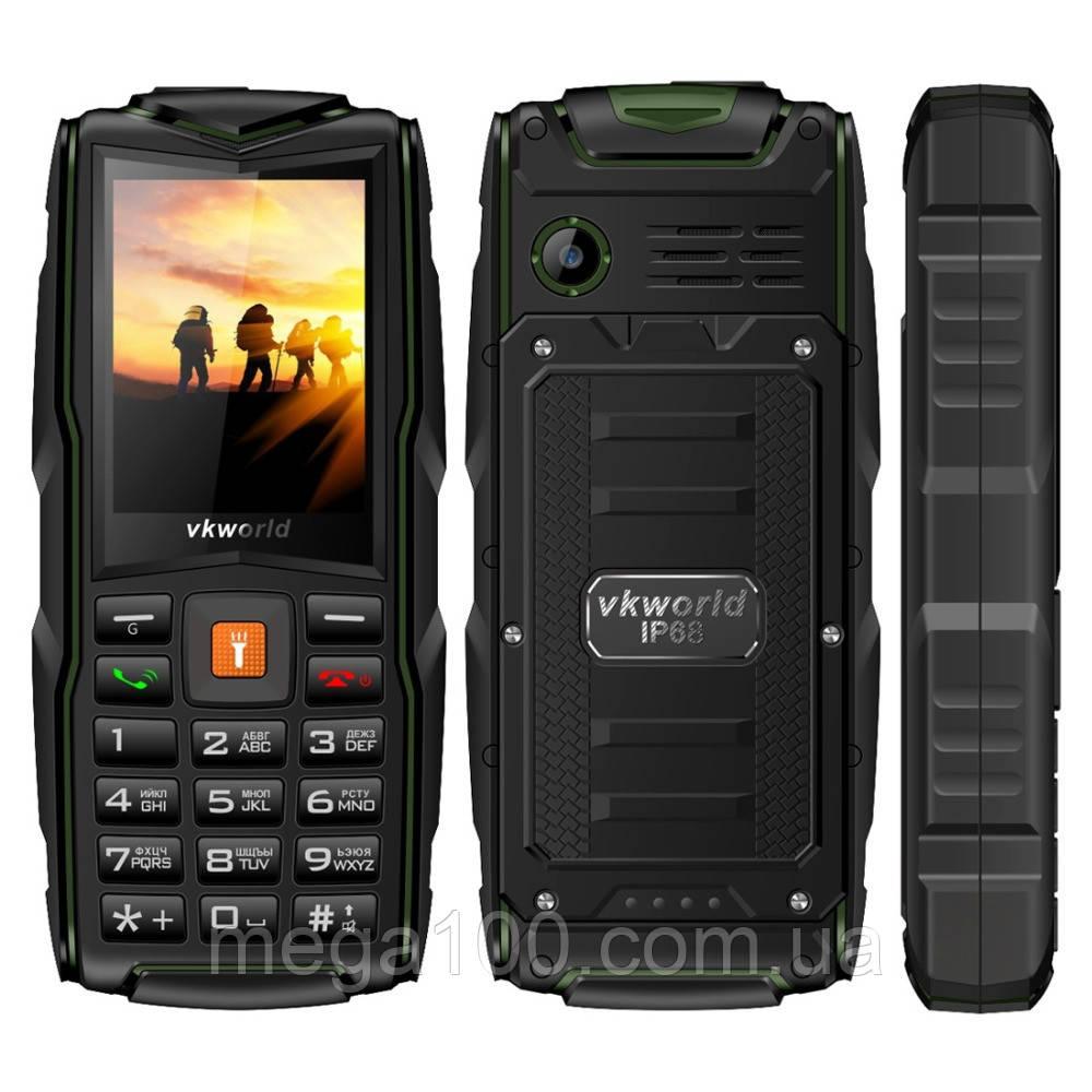 Телефон мобильный VKworld New V3 зеленый цвет