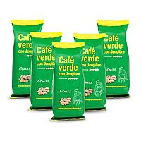 Зеленый молотый кофе с имбирем Cafe Verde Con jengibre