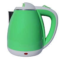 Электрочайник металл-пластик  DT 901 зеленый 1.8 литра распродажа