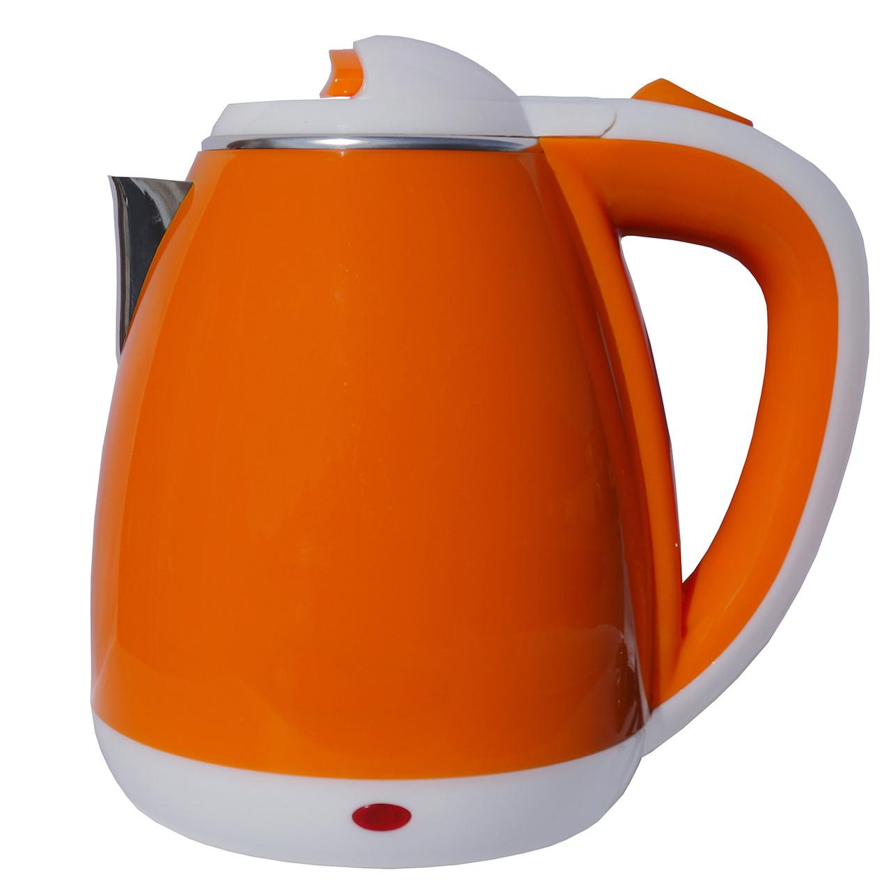 Электрочайник металл-пластик  DT 901 оранжевый 1.8 литра распродажа
