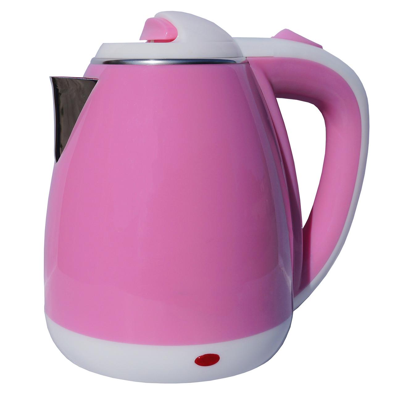 Электрочайник металл-пластик  DT 901 розовый 1.8 литра распродажа