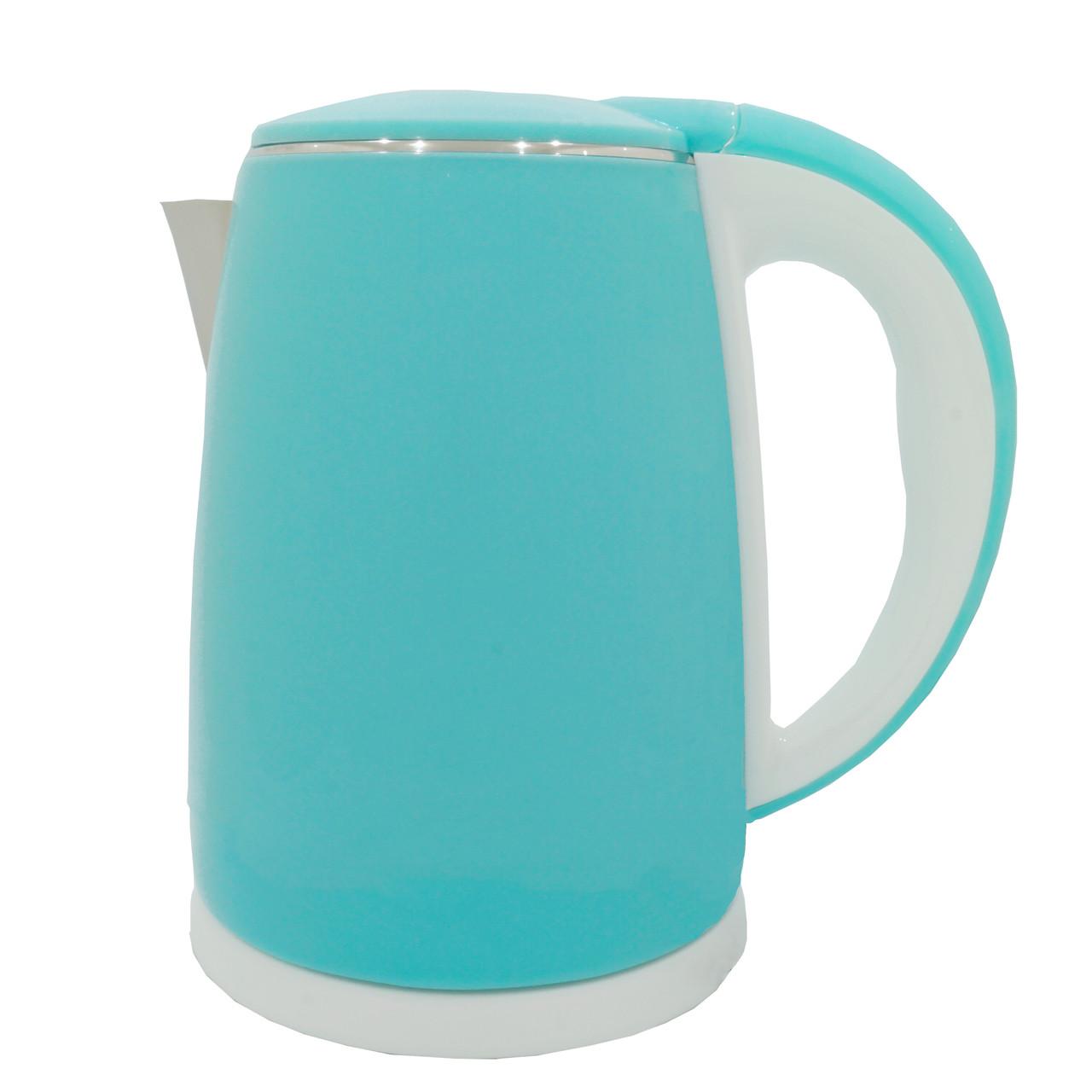 Электрочайник металл-пластик  DT 902 голубой 2 литра распродажа