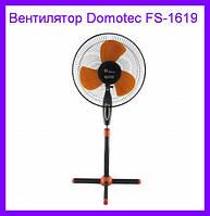 Вентилятор Domotec FS-1619 (черно-оранжевый)!ОПТ