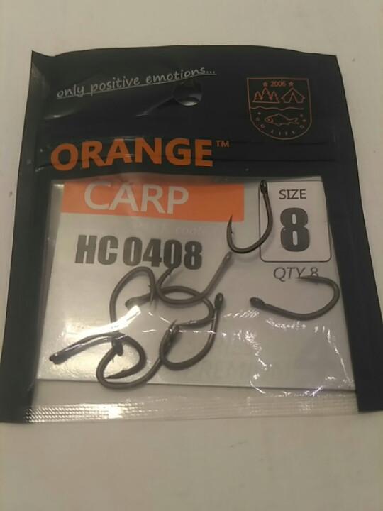 """Крючки для рыбалки ,,Orange carp"""" #8"""