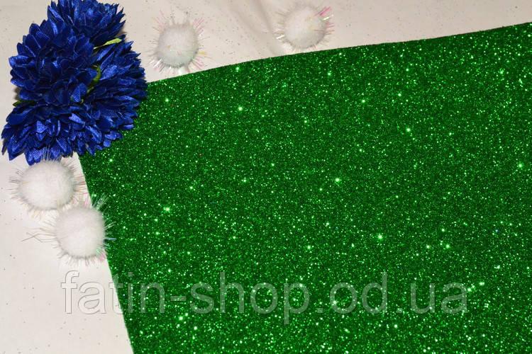 Фоамиран с глиттером 2мм цв.Apple Green