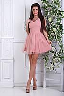 Платье с фатином пудра от производителя