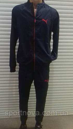 """Спортивный костюм мужской """"Puma"""" (ткань лакоста, брюки с манжетом)"""