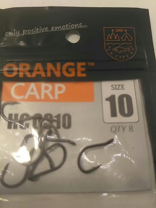 "Рибальські гачки ,,Orange carp"" #10"