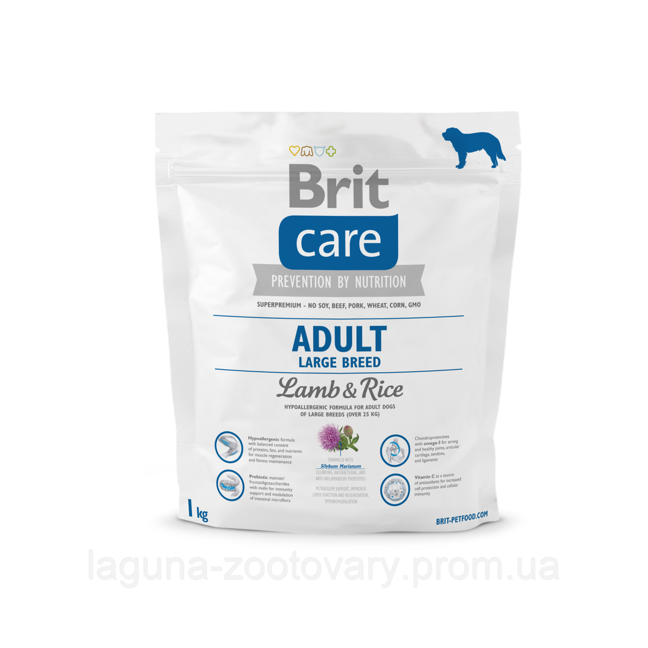 Brit Care Adult Large Breed Lamb & Rice 1 kg (д/собак весом от 25 кг)