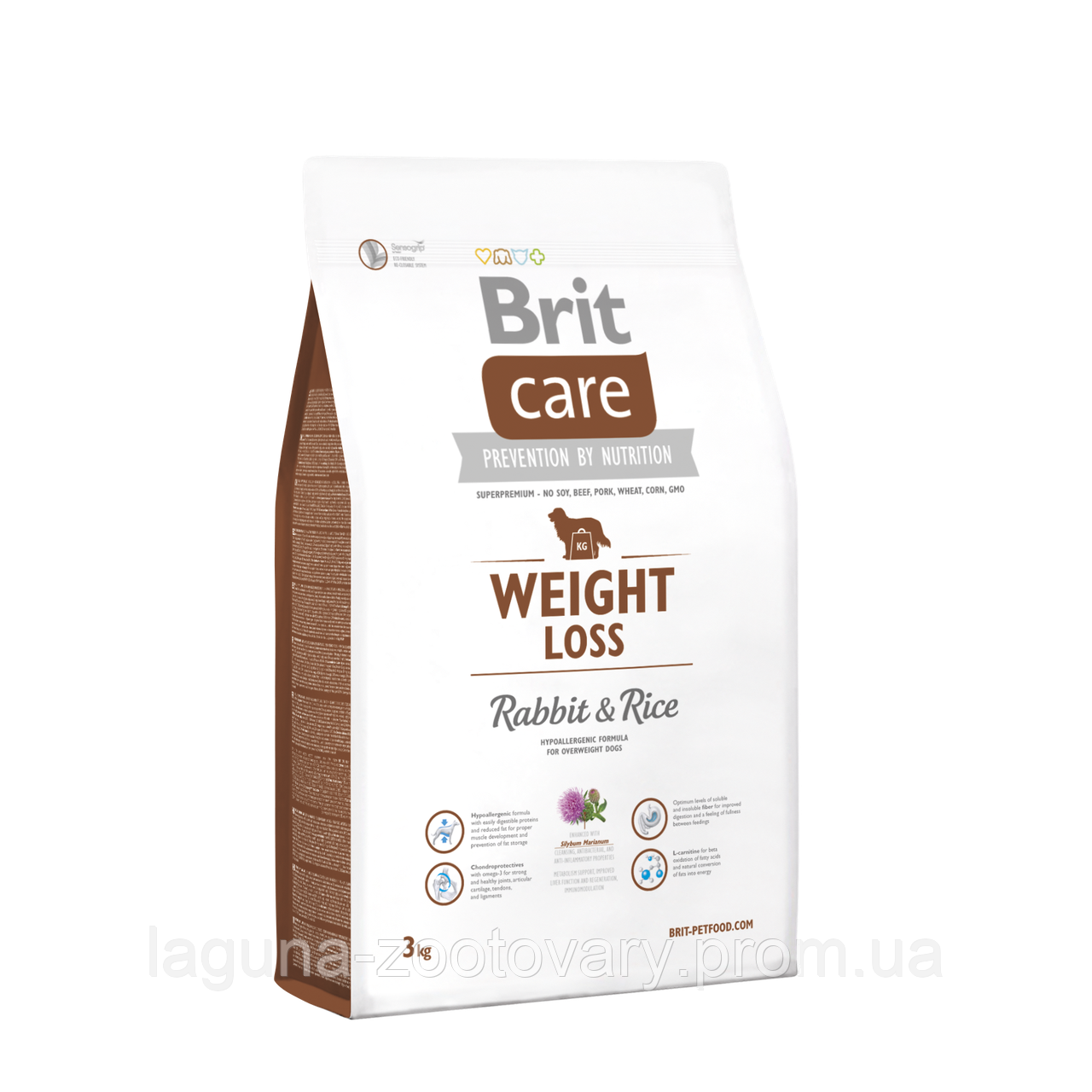 Brit Care Weight Loss Rabbit & Rice 3 kg (д/соб. с лишним весом)