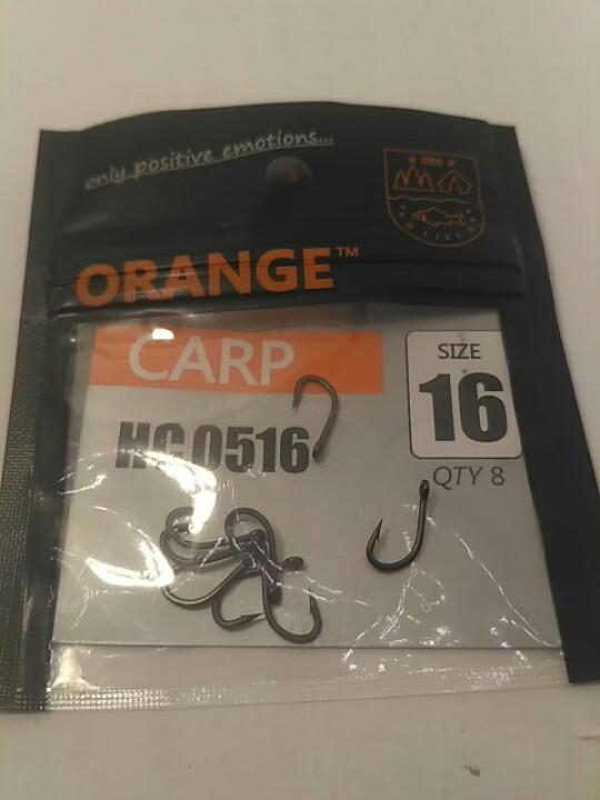 "Рибальські гачки ,,Orange carp"" #16"