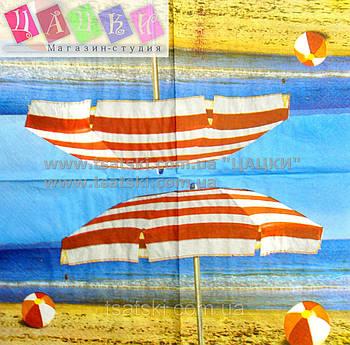 "Салфетка декупажная 33Х33 см 17 ""Пляжный зонт"""