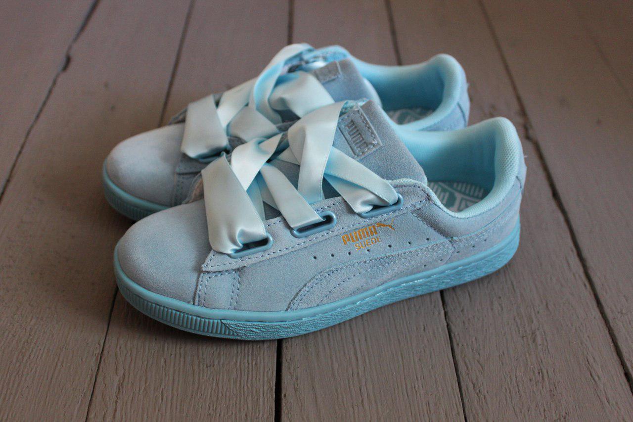 san francisco 5a138 83019 Puma Suede Heart Sky Blue | женские кроссовки / кеды; бирюзовые / голубые -  Bigl.ua