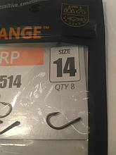 Крючки для рыбалки Orange carp #14