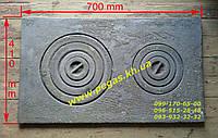 Плита чугунная с конфорками (40х70см) печи, котлы, мангал, барбекю, фото 1