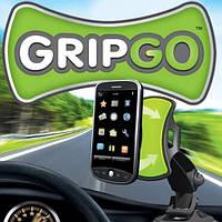Универсальный автомобильный держатель для телефона GripGo, холдер, держатель, подставка, крепление, фото 1