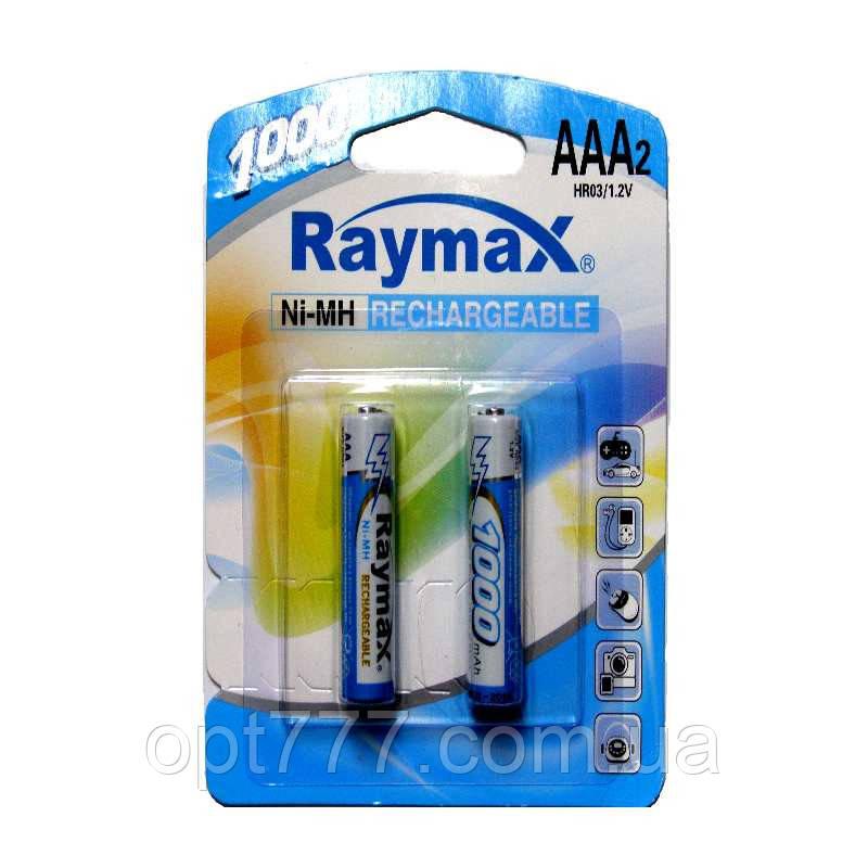 Аккумулятор Raymax R-03 (ААА) 1000mAh (2 шт. на блистере)