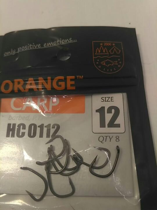 """Гачки для риболовлі ,,Orange carp"""" #12"""