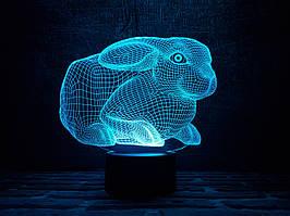 """Детский ночник """" Кролик 2"""" 3DTOYSLAMP"""