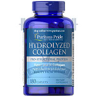 Puritan's Pride Hydrolyzed Collagen 1000 mg коллаген для суставов и связок кожи волос и ногтей