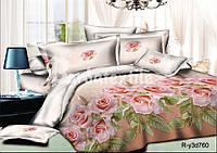 """Комплект постельного белья полуторный из ранфорса ТМ """"Ловец снов"""", Розовые розы"""