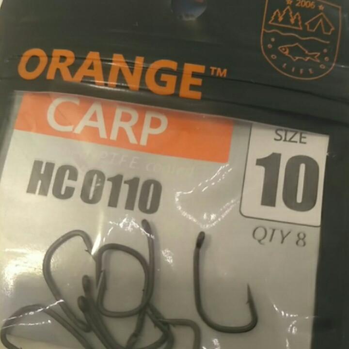 Гачки для риболовлі Orange carp #10