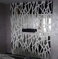 Декоративная 3D панель на зеркале, фото 1