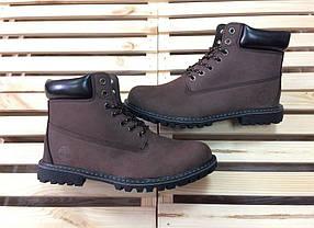 Ботинки мужские в стиле Tiberland код товара 4S-1010. Коричневые
