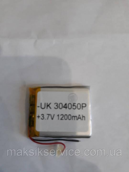 Аккумулятор 304050 для China (Li-ion 3.7В 1200мА·ч), (50*40*3 мм) 2 контакта (провода)
