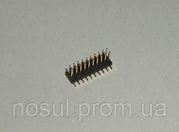 Разъем коннектор 1.27 mm 2 x 10 pin (угловой) папа male