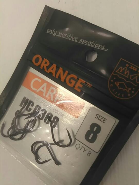 Рыболовные крючки Orange carp #8