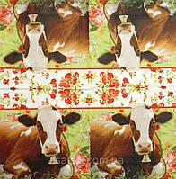 """Салфетка декупажная 33Х33см 7 """"Корова с колокольчиком """" (товар при заказе от 200 грн)"""