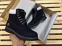Ботинки женские в стиле Timberland код товара 4S-1013. Темно-синие
