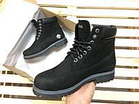 Ботинки женские в стиле Timberland код товара 4S-1014. Черные