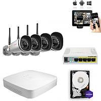 Комплект IP видео наблюдения 4FullHD Wi-Fi 9900