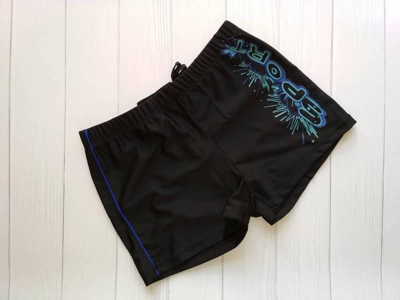 Черные плавки-шорты на мальчика-подростка 42-48 р